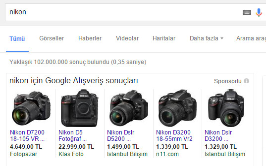 google adwords merchant reklamlar